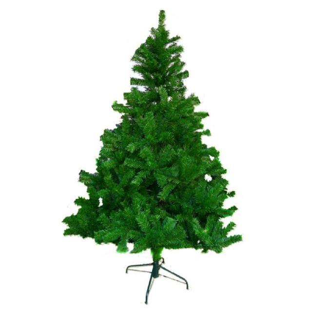 【摩達客】台灣製4呎/4尺 120cm 豪華版聖誕樹綠色裸樹(不含飾品 不含燈)