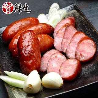 【賀鮮生】真划蒜蒜頭香腸2包(約27條/包)