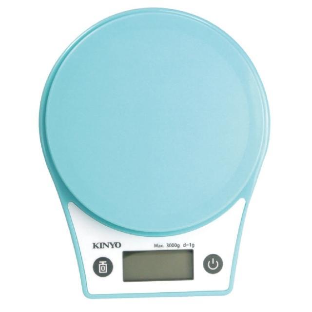 【KINYO】馬卡龍色 數位電子LCD顯示 食物料理秤