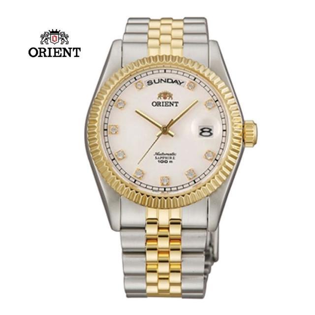 【ORIENT 東方錶】WILD CALENDAR系列 蠔式型機械錶 鋼帶款 白色 SEV0J002W - 36.5mm(SEV0J002W)