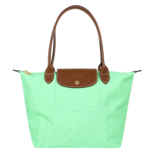 【LONGCHAMP】長提把小型摺疊水餃包(綠色/S)