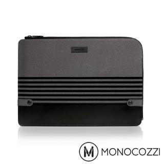 【MONOCOZZI】Gritty 校園系列 Macbook Pro 15 吋 USB-C & MacBook Air 13 吋筆電保護套(沈穩黑)
