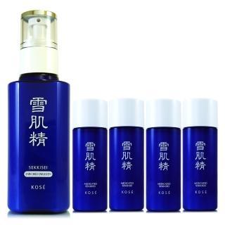 【KOSE 高絲】雪肌精乳液140ml-極潤型 - 贈雪肌精化妝水45ml*2(正統公司貨)