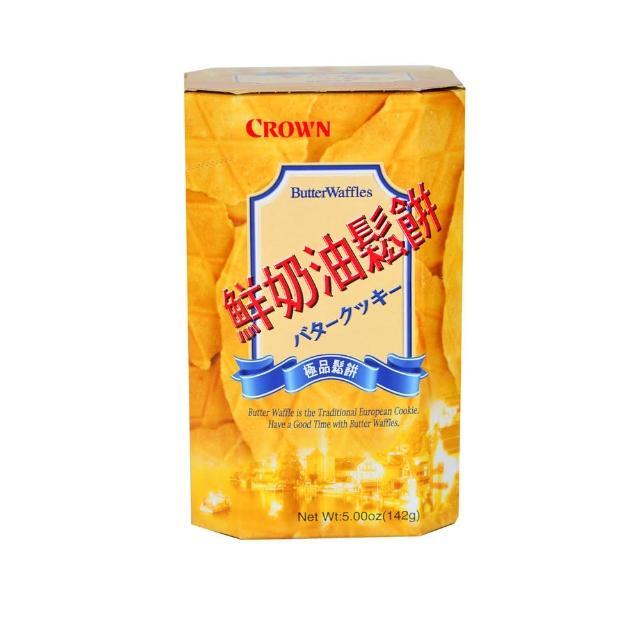 【CROWN 皇冠】鮮奶油鬆餅135G/盒