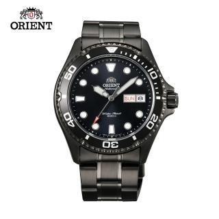 【ORIENT 東方錶】ORIENT 東方錶 WATER RESISTANT系列 200m潛水機械錶 鋼帶款 黑色 FAA02003B(FAA02003B)