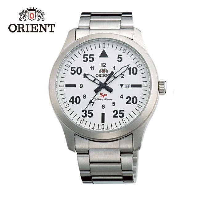 【ORIENT 東方錶】SP 系列 飛行運動石英錶 鋼帶款 白色 - 42mm(FUNG2002W)