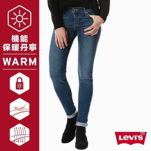【LEVIS】牛仔褲 修身 / 711 中腰緊身窄管 / Warm Jeans保暖機能丹寧 / 刷白