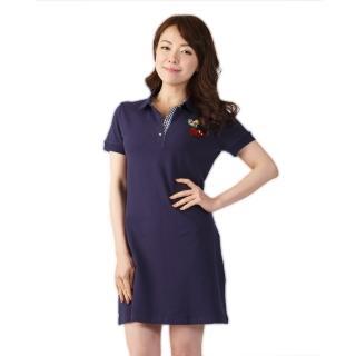 L'LAR英倫風精梳網眼POLO洋裝組(35)