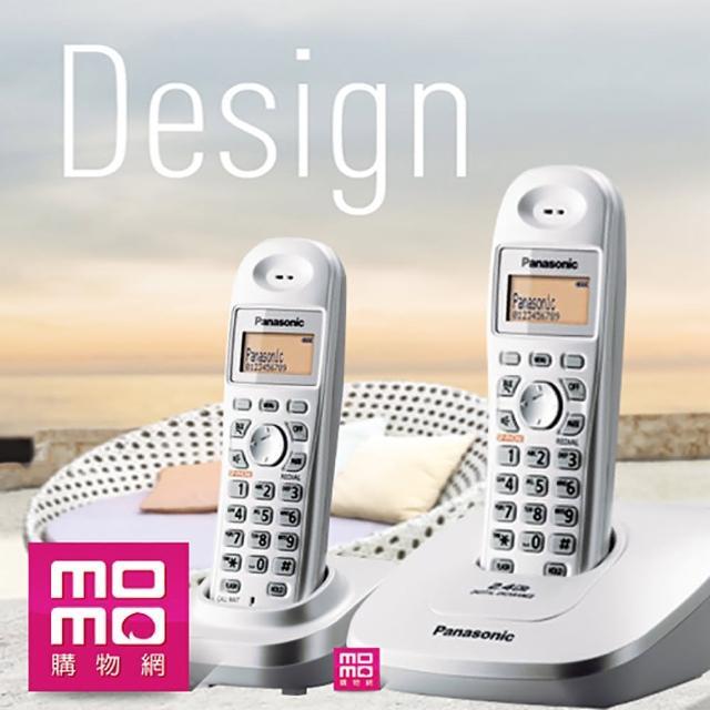 【Panasonic 國際牌】2.4GHz 高頻數位無線電話(KX-TG3612 晨曦白)