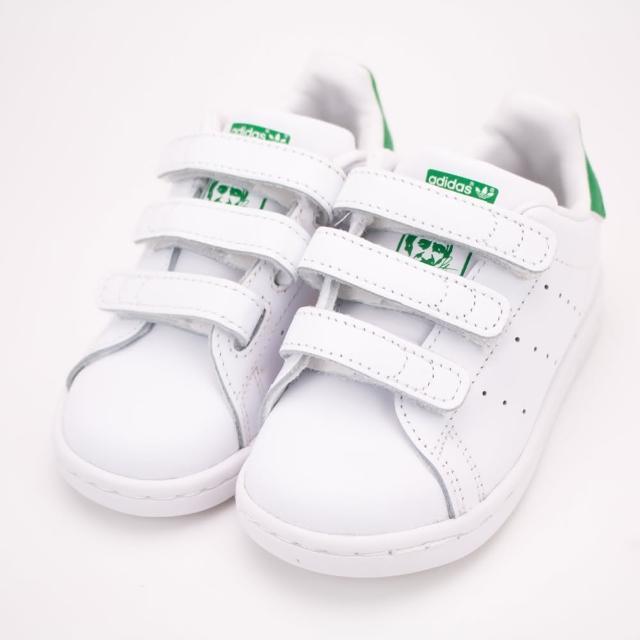 【adidas 愛迪達】愛迪達-STAN SMITH CF I 經典 史密斯 -白綠-BZ0520(幼童休閒鞋)
