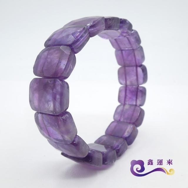 【鑫運來】絢麗時尚紫水晶切角手珠(開智慧首選)