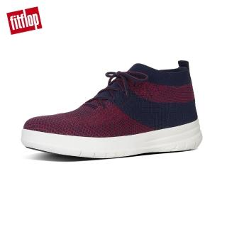 【FitFlop】男款-UBERKNIT TM SLIP-ON HIGH TOP SNEAKERS(午夜藍/經典紅)