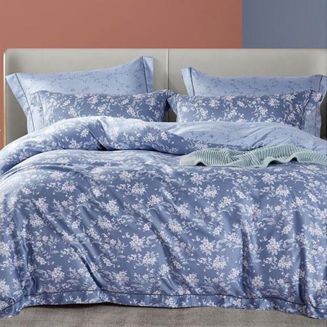 【GiGi居家寢飾生活館】100%純天絲TENCEL雙人七件式兩用被床罩組(琴暖 雙人5x6.2尺)