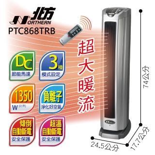 【北方】直立式陶瓷遙控電暖器(PTC868TRB)