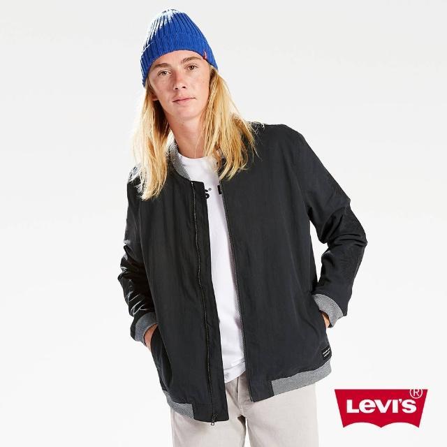 【LEVIS】男款 Line 8 立領純棉拼接夾克外套