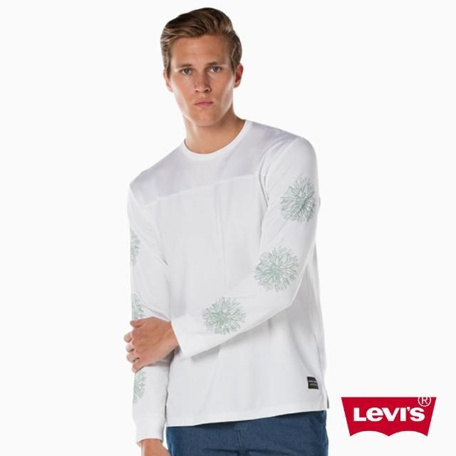 【LEVIS】男款 Line 8 長袖上衣 / 白色