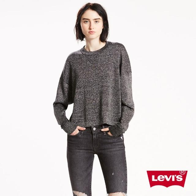 【LEVIS】女款 毛衣 / 金蔥 / 金綠