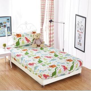 【BOREII】防蹣防水透氣純棉印花床包枕套組-三款花色-雙人(100%防水 保潔墊 戒尿布 防蹣寢具)