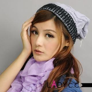 【Lady c.c.】滾邊跳色百搭基本款毛帽(灰)
