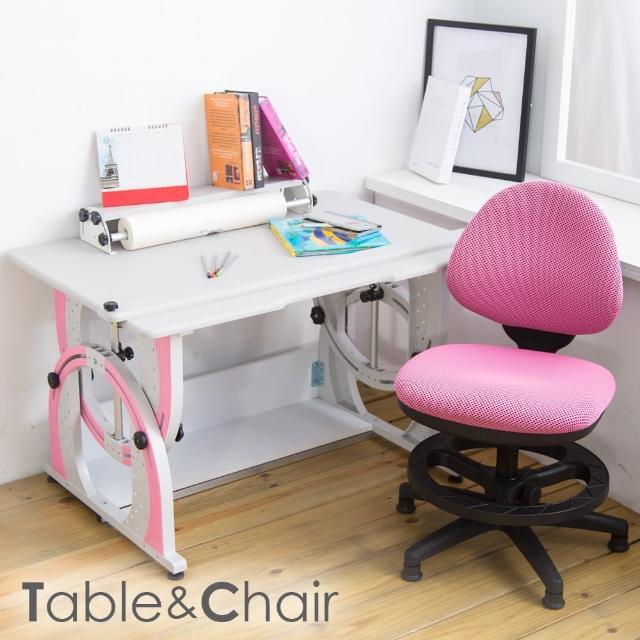 【時尚屋】溫德爾兒童伸縮成長書桌椅組 DF-100+411S(可選色 免運費 台灣製 兒童書桌)