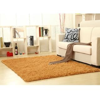 【幸福揚邑】舒壓長毛羊絲絨超軟防滑吸水地墊地毯-卡其(80x160cm)