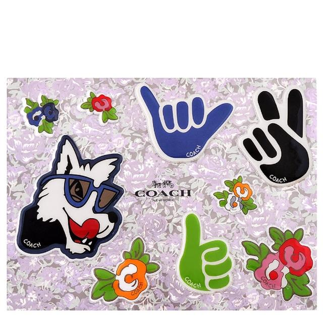 【COACH】Disney狗狗立體泡棉貼紙(買就送璀璨水晶觸控筆)