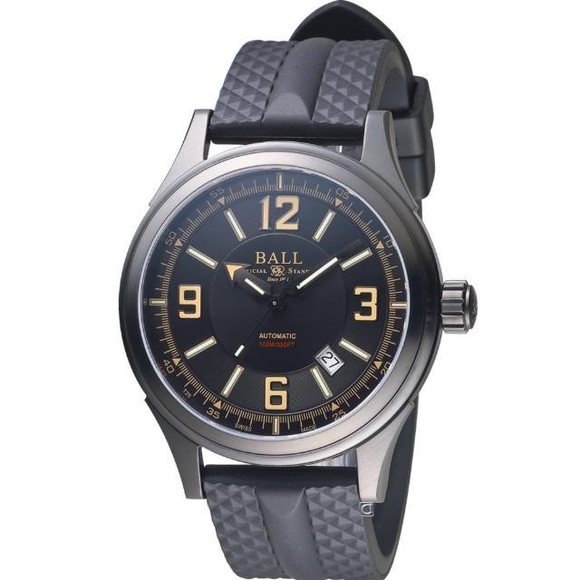 【BALL 波爾】Fireman Racer 機械腕錶(NM3098C-P1J-BKBR)