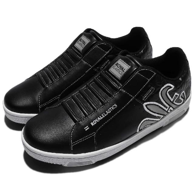 【ROYAL Elastics】休闲鞋 Hydra 复古 懒人鞋 男鞋 反光 低筒 穿搭推荐 经典 男 黑 银(02281980)