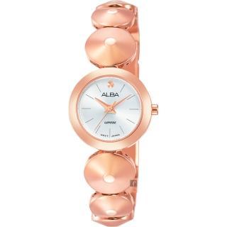 【ALBA】Fashion 曲線時尚女錶-銀x玫塊金/22mm(VJ21-X107P  AH8366X1)