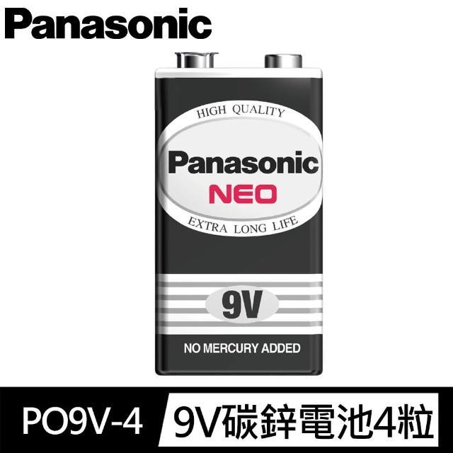 【Panasonic 國際牌】Panasonic 國際牌 黑猛、碳鋅電池 9V4 入裝(國際牌電池9V超強碳鋅電池)
