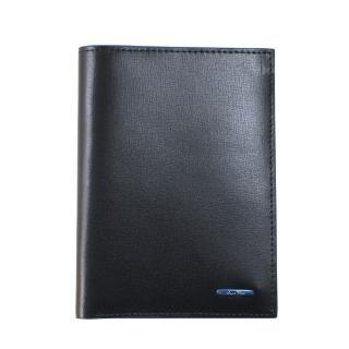 【Saint Clair聖克萊】質感黑藍邊護照套(Z3851)