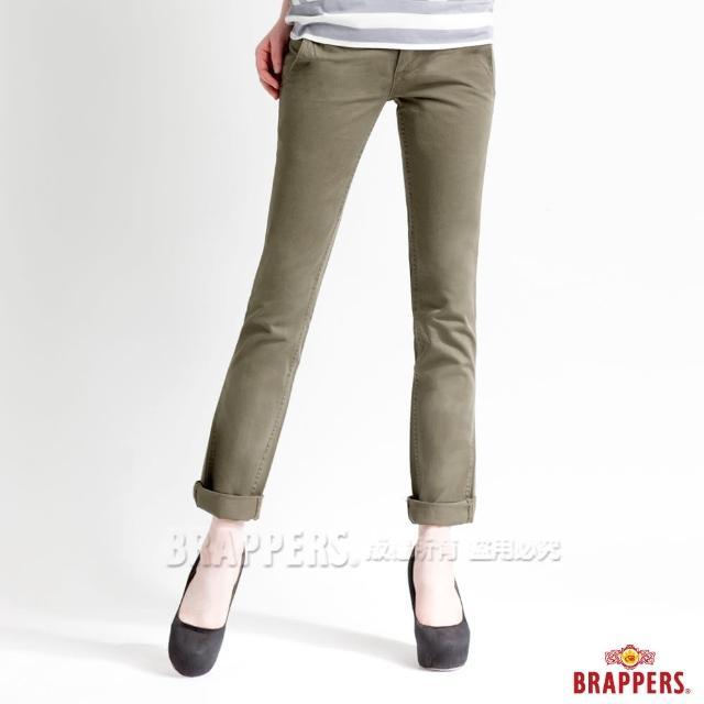 【BRAPPERS】女款 Boy Firend Jeans 系列-直統反摺褲(綠)
