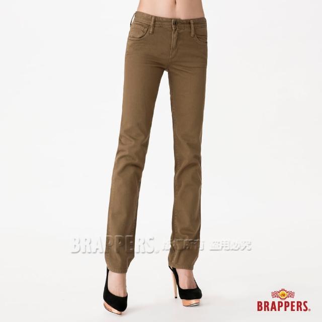 【BRAPPERS】女款 Boy Firend Jeans 系列-直統反折褲(淺綠)