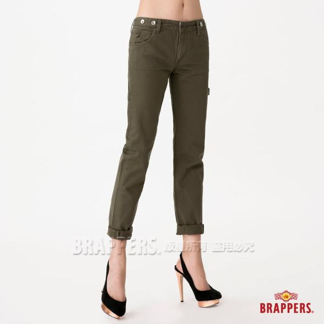 【BRAPPERS】女款 Boy Firend Jeans 九分反摺工作褲(綠)