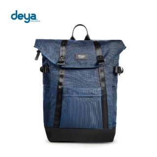 【deya】率真自我折蓋後背包-清新藍(頂級N66防彈尼龍)