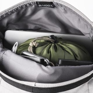 【MOOX 穆克斯】A3GS CONVERT多功能防潑水探險後背包-雙層筆電包(雅痞灰)