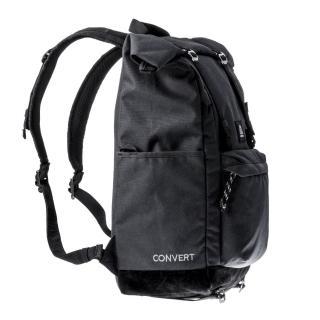 【MOOX 穆克斯】A3BB CONVERT多功能防潑水探險後背包-雙層筆電包(深夜黑)