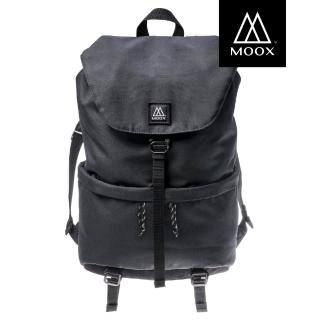【MOOX 穆克斯】A6BB DELTA極簡防潑水後背包-雙層筆電包(深夜黑)