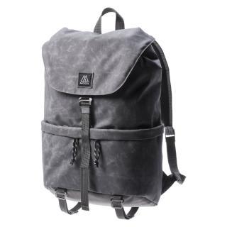 【MOOX 穆克斯】A6SGL DELTA極簡防潑水後背包-雙層筆電包(水洗灰)