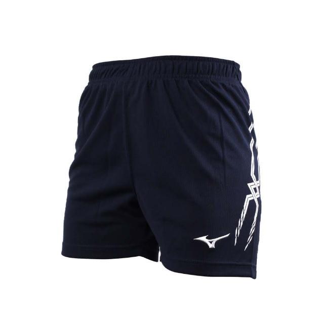 【MIZUNO 美津濃】女排球褲-排球 三分褲 短褲 美津濃 丈青白(V2TB7C1014)