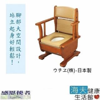 【海夫健康生活館】預購馬桶 木製移動廁所 暖座型 日本製(T0666)