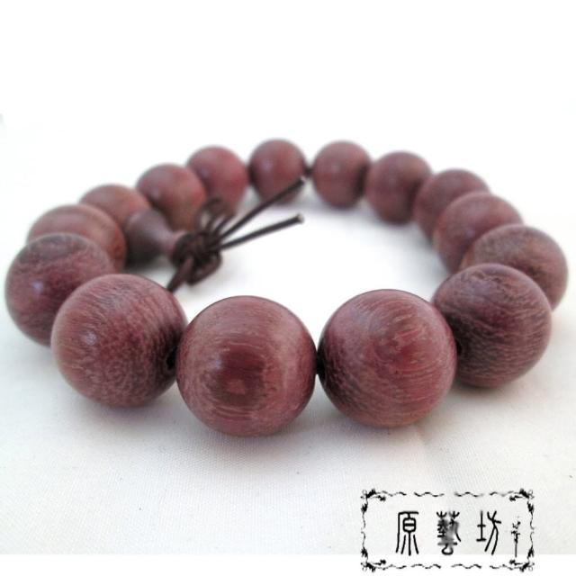 【原藝坊】天然浪漫玫瑰 紫檀木 佛珠手鍊(直徑15mm)