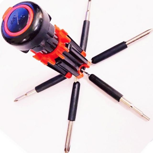 【Ainmax 艾買氏】組合專用 6合1多功能工具組/6合一螺絲起子手電筒工具(生活工作好幫手)