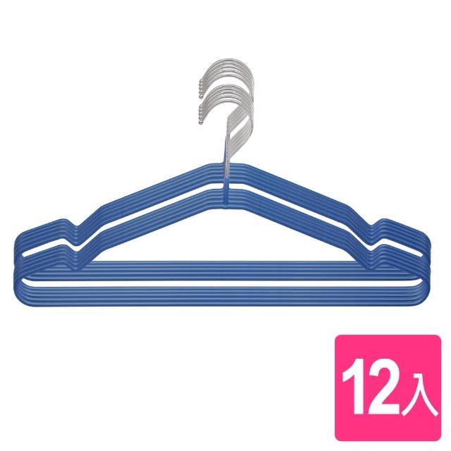 【AXIS 艾克思】多功能乾濕兩用防滑易收衣架 12入(加粗穩固實用款)