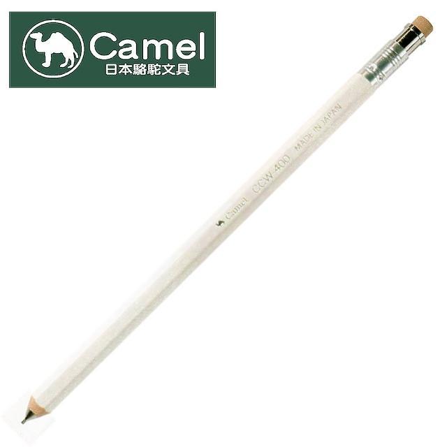 【Camel日本駱駝文具】CCW-401 木製六角桿珠光自動鉛筆(白)
