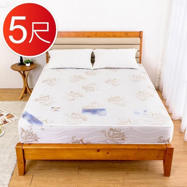 【BODEN】高支撐型兩用涼席護背硬式連結式彈簧床墊(5尺標準雙人)/