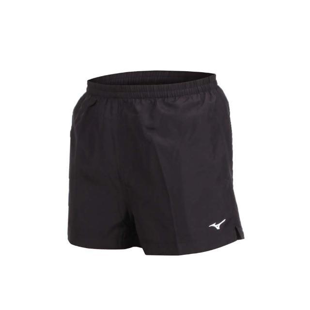 【MIZUNO 美津濃】男路跑短褲-慢跑 健身 訓練 三分褲 美津濃 黑白(J2TB8A0109)