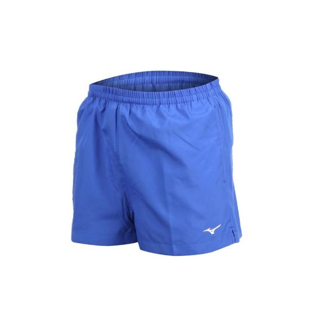 【MIZUNO 美津濃】男路跑短褲-慢跑 健身 訓練 三分褲 美津濃 藍白(J2TB8A0122)