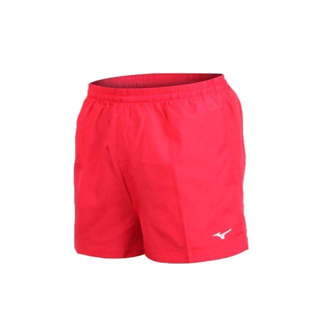 【MIZUNO 美津濃】男路跑短褲-慢跑 健身 訓練 三分褲 美津濃 紅白(J2TB8A0162)