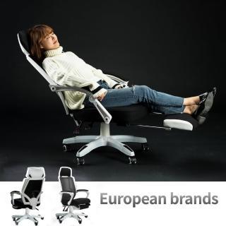 【Ashley House】CS-07 羅德加寬頭枕型高背人體工學電腦椅/商務辦公椅(加厚頭枕 / 置腳台)